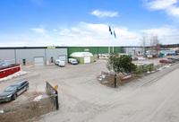 Gröna huset och nya lagerhallarna