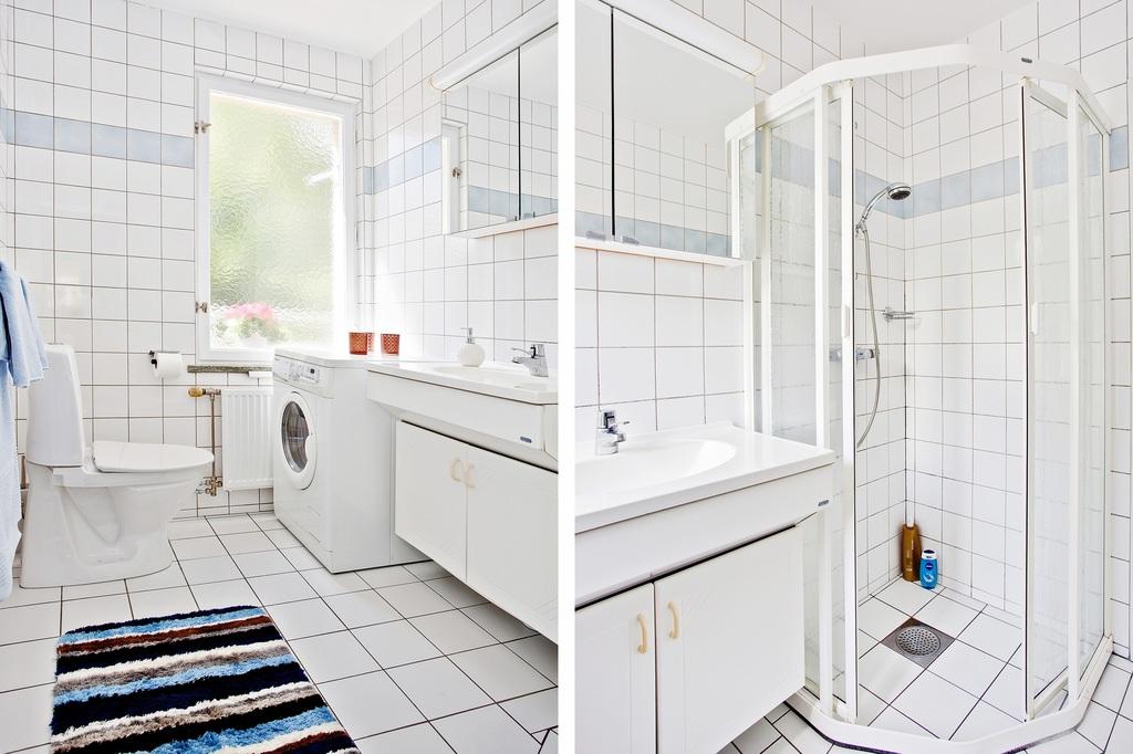 Ljust och rymligt badrum