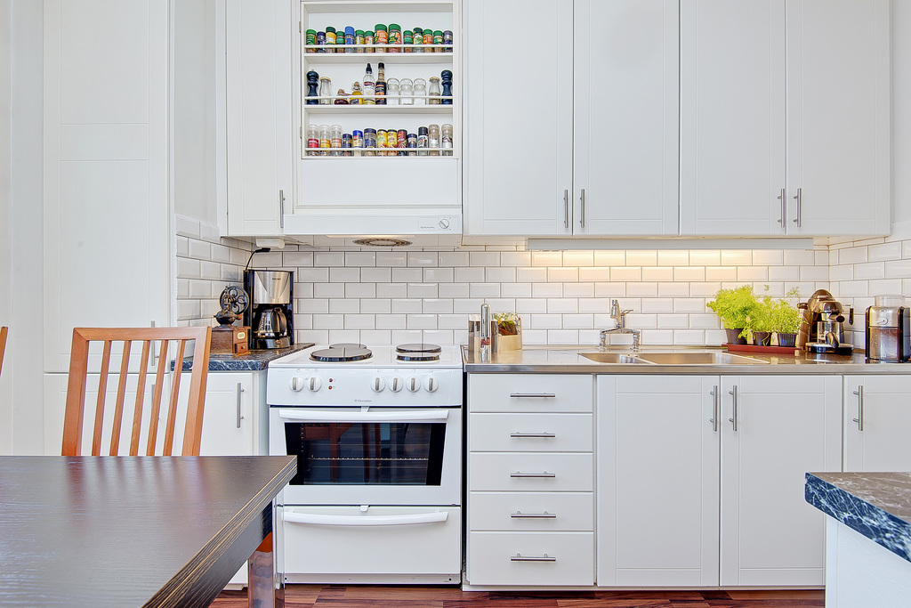 Stilrent kök med originaldetaljer bevarade