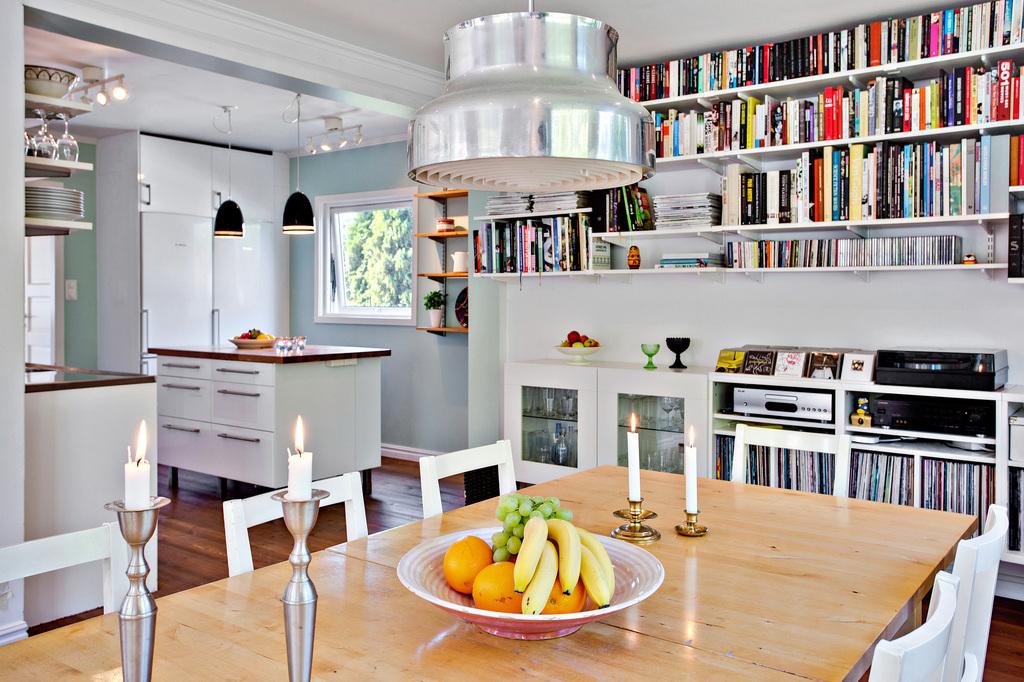 Matsal och kök i fin planlösning