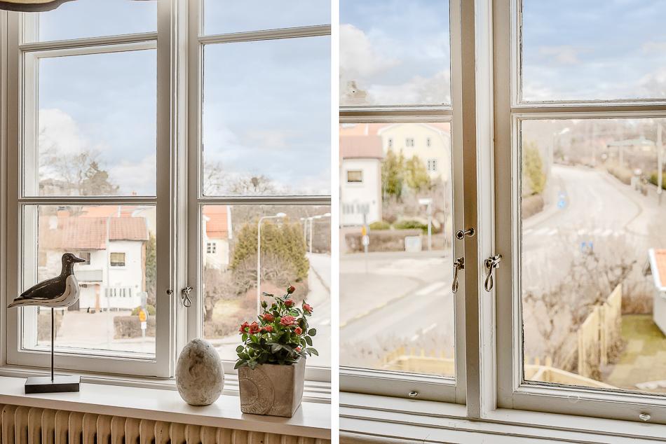 Fina spröjsade fönster