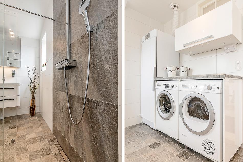 Dusch och tvättavdelning