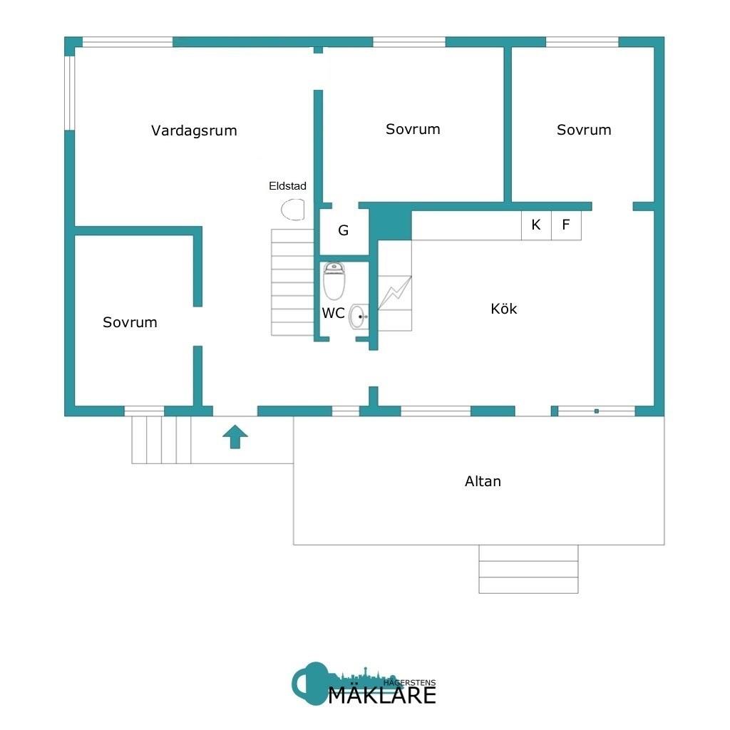 Entréplan: Alternativ planlösning