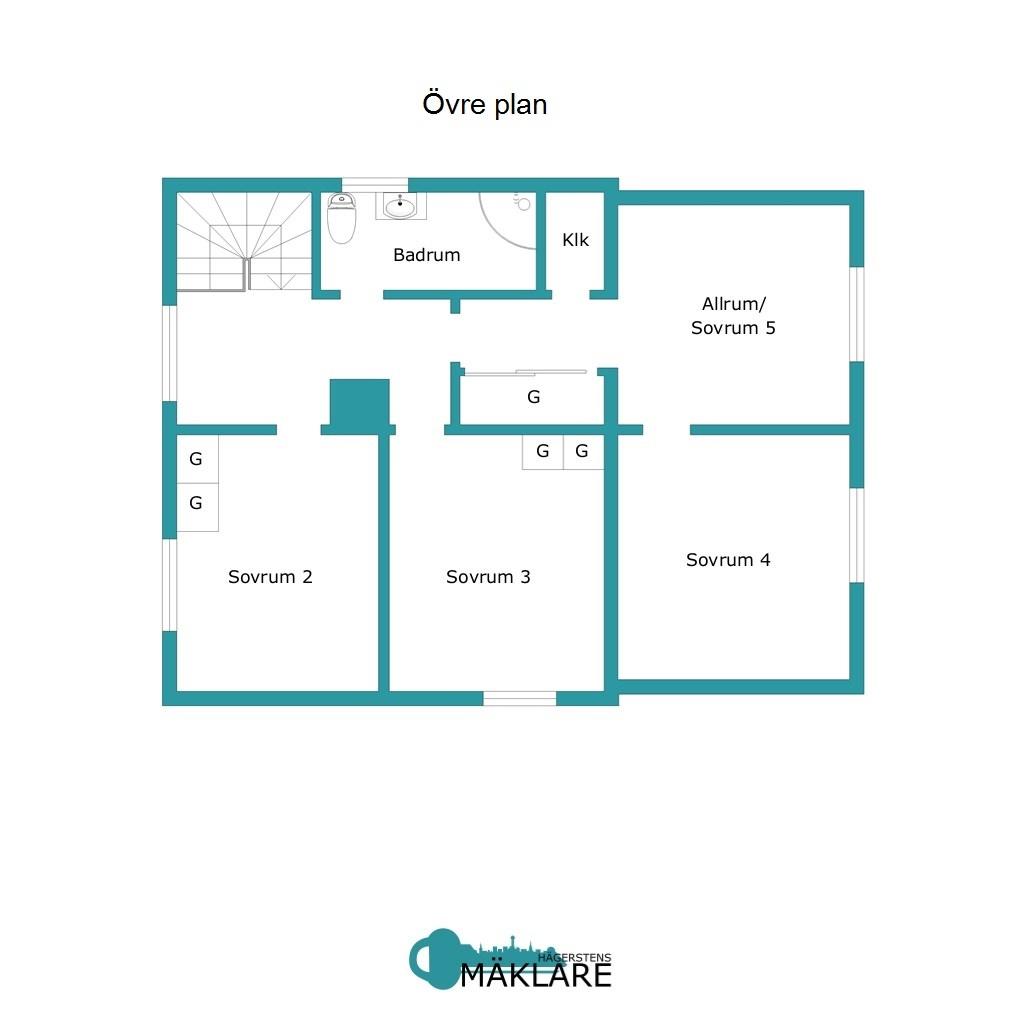 Planlösning Övre plan