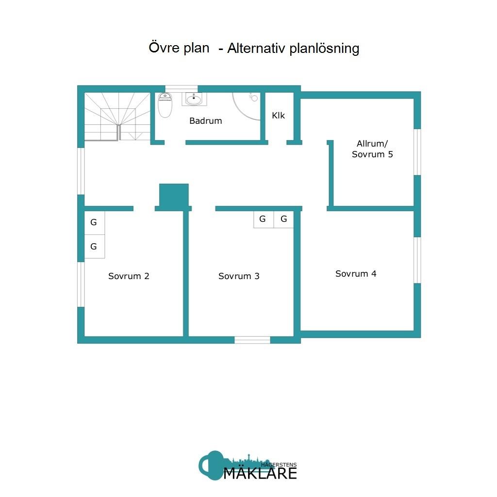 Övre plan- Alternativ planlösning