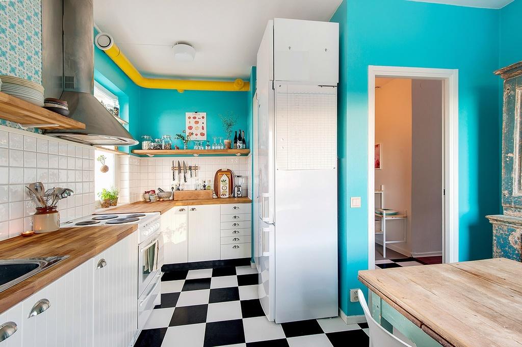 Gott om arbetsyta i köket