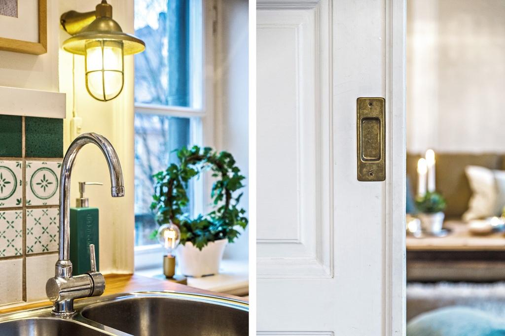 Detaljbild för kök och vardagsrum