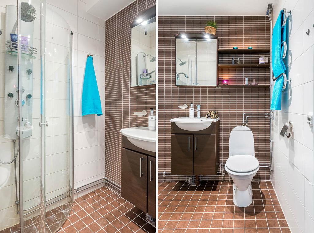 Fräscht badrum med massagedusch