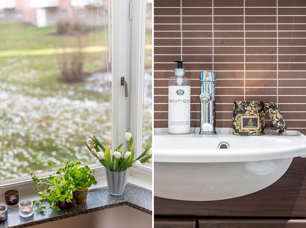 Detaljbilder från kök och badrum