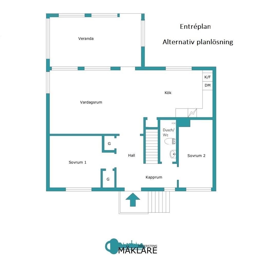 Entréplan-Alternativ planlösning