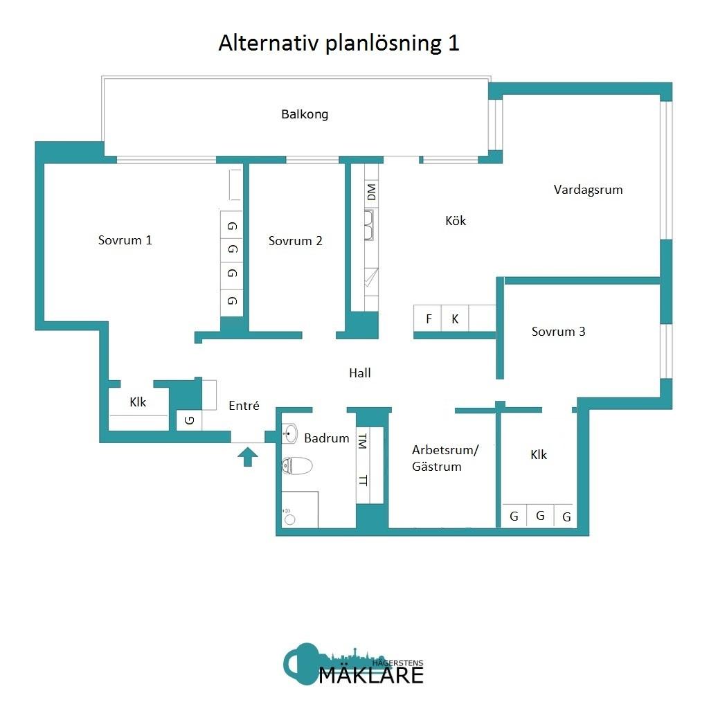Alternativ planlösning 1