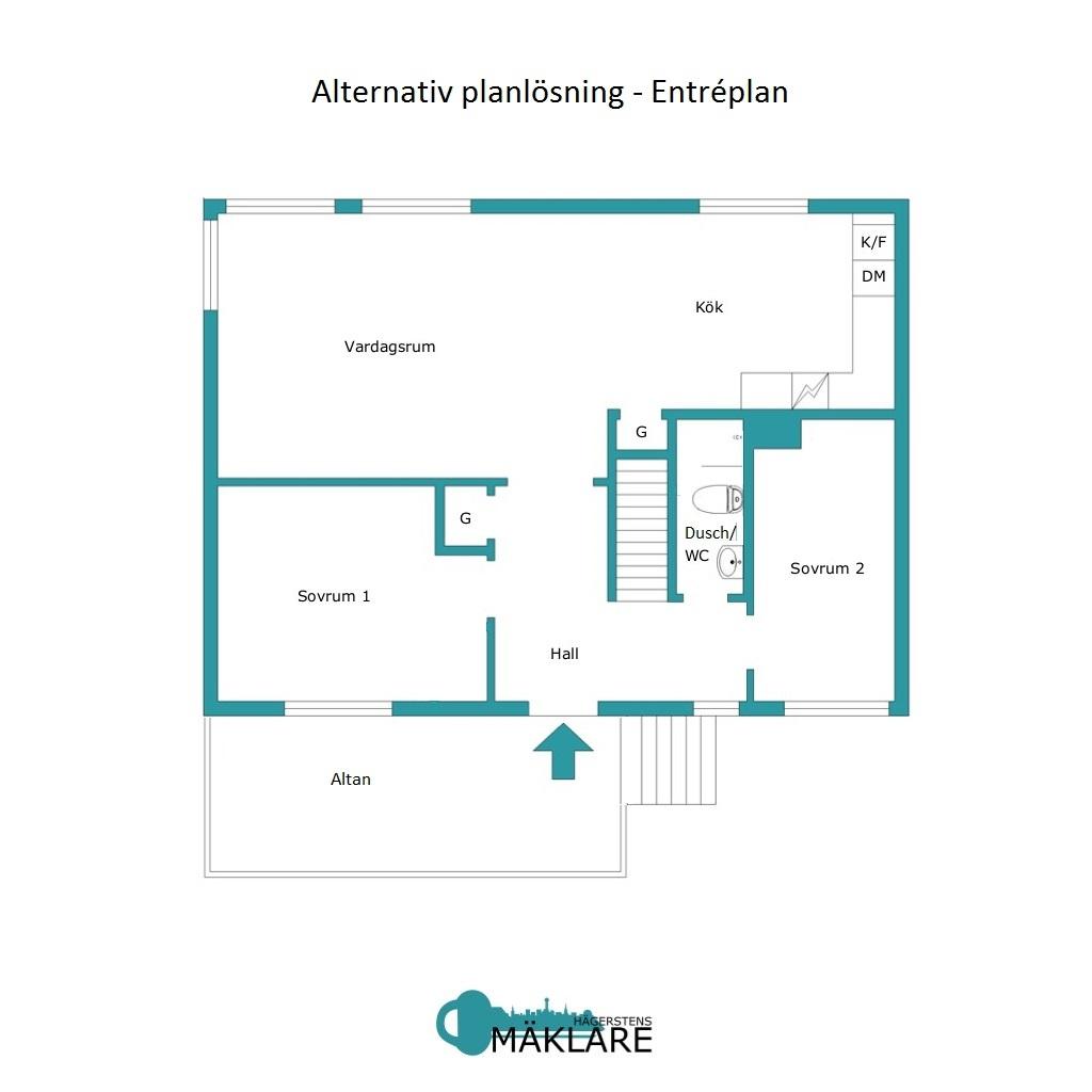 Alternativ planlösning - Entréplan