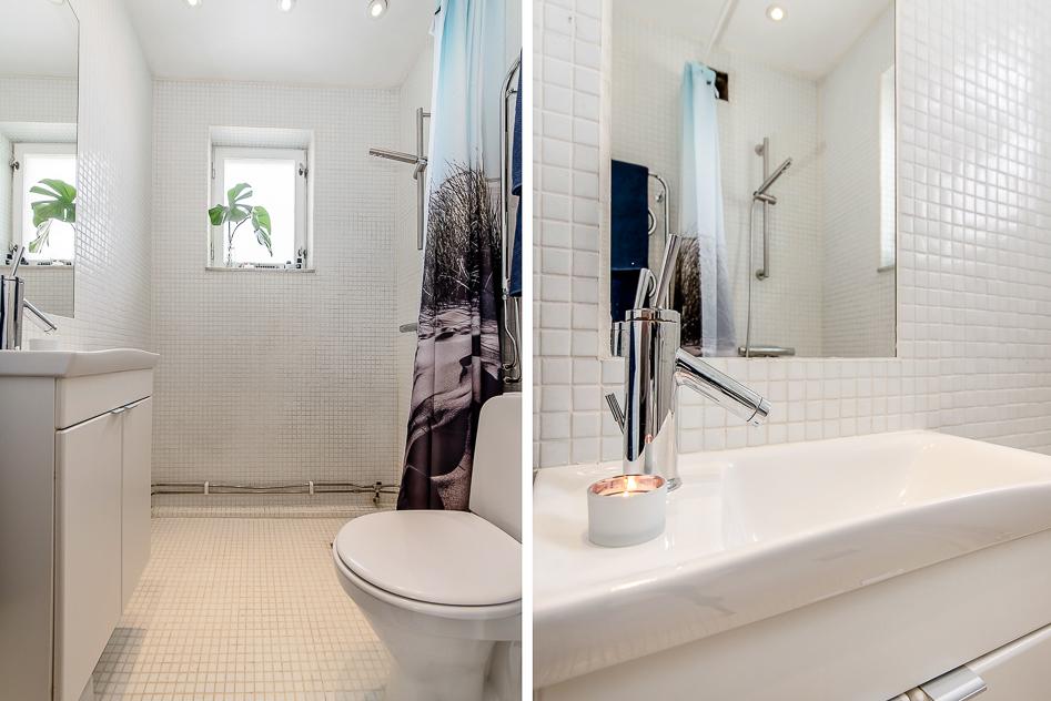 Ljust och fräscht badrum