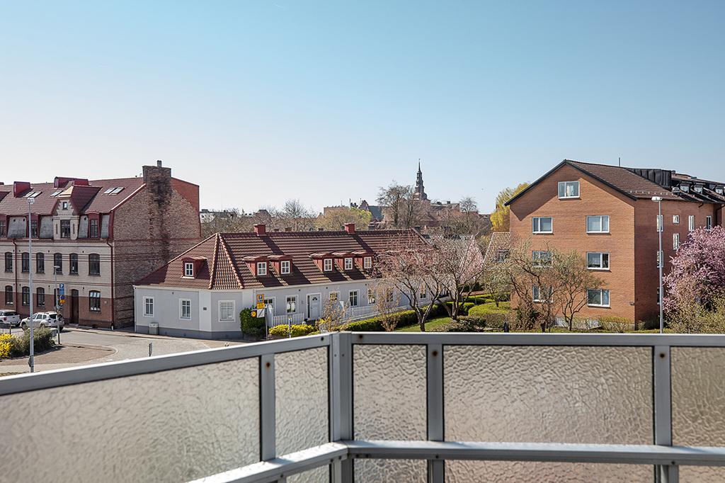 Underbar utsikt från balkongen